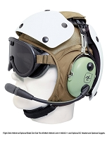 HGU24P, HGU25P Flight Deck Helmet - Complete W/ Goggles and Hearing Protection Headset