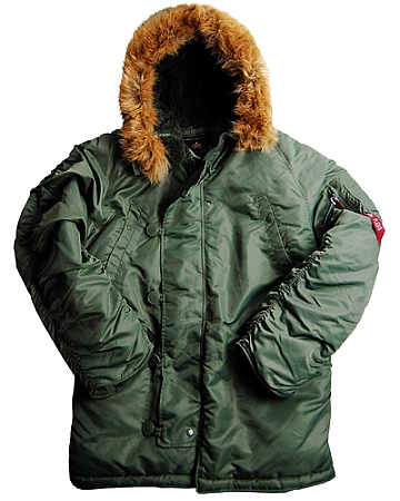 N-3B Alpha Cold Weather Parka flight Jacket